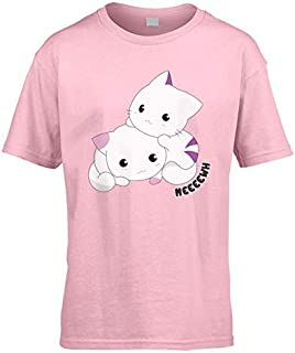 1d8ff95e44b9c Chats Mignons Enfants T-Shirt (à Choisir Couleur et Taille) (3 à