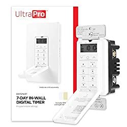 commercial UltraPro Daysmart Wall Recessed Digital 7-day timer, presets / countdowns, programmable settings, … programmable timer switches
