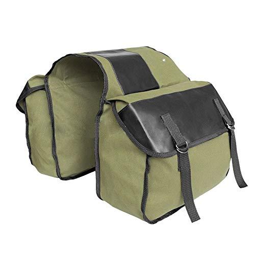 Saddlebag Universal para Bolsa de Motocicleta Bolsas de Equipaje Trasero de Lona para Sportster XL883 1200 para Honda para Kawasaki Derecha Bolsa (Color Name : Y MC0013 Green)