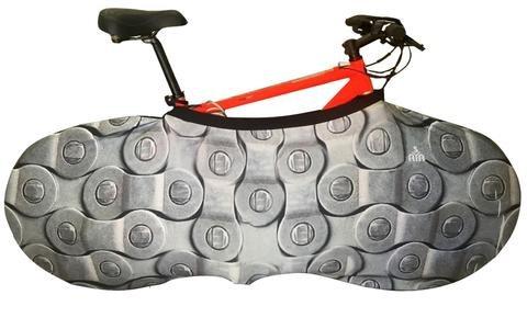 YISAMA Funda Bicicleta Decorativas, Funda Bici Para Interiores, Forro Para Bicicletas Motivo Eslabones De Cadena