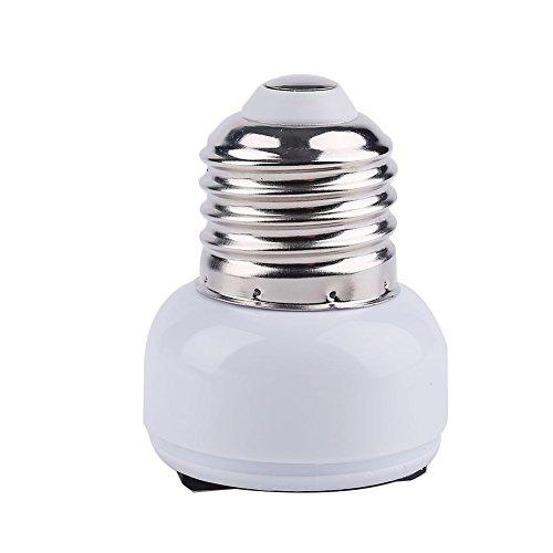 E27-USEU convertidor de enchufe, adaptador de base de lámpara de alta calidad para bombillas LED y bombillas incandescentes y bombillas CFL (1 unidad)