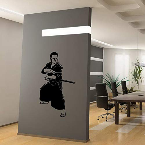Apliques Kendo Sticker Samurai Decal Japan Ninja Poster Vinyl Art Tatuajes de Pared etiqueta de la pared Decoración Mural Kendo Sticker xcm