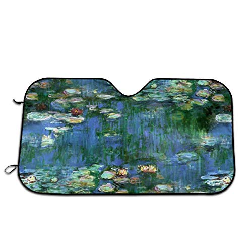 Lilies Claude Monet Water Lilies Car Windshield Sun Shade - Blocks Uv Rays Sun