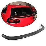 MCARCAR KIT Rear Spoiler fits Volkswagen VW Golf 6 VI MK6 R20 GTI 2010-2013 Customized Carbon Fiber Middle Window Top Wing Lip