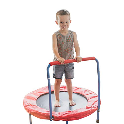 Best Bargain Portable Kids Trampoline with Handle - 36 Inches Outdoor or Indoor Trampoline for Kids ...
