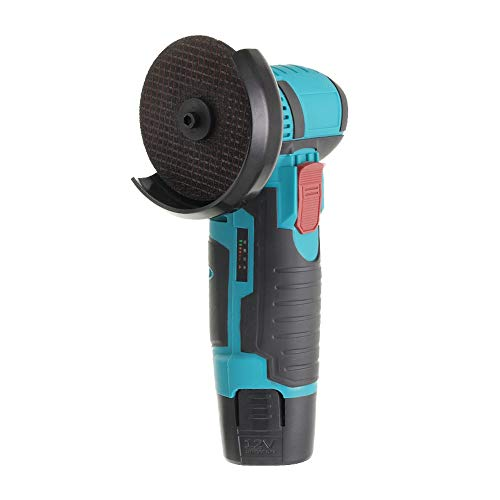 12V 300W 80mm Angle Grinders Mini Cutter, Brushless Cordless Grinder Tool with Dual 2.0Ah Battery and Fast Charger, 80mm Cutting & Grinding Wheels