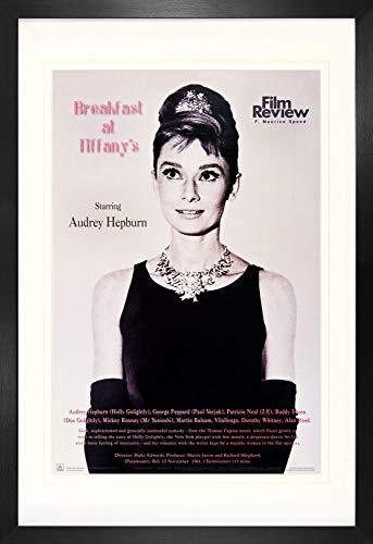 1art1 Desayuno con Diamantes Audrey Hepburn - Film Review Collection Póster (91 x 61cm) con Marco MDF (120 x 80cm)