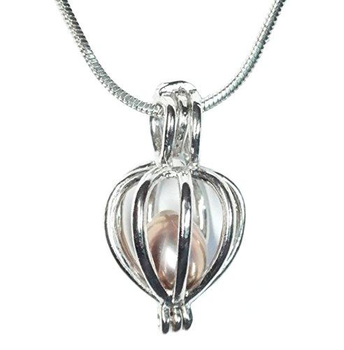 Unbekannt Schutzengel Wunschperle mit passender Halskette im Geschenkkarton Perle