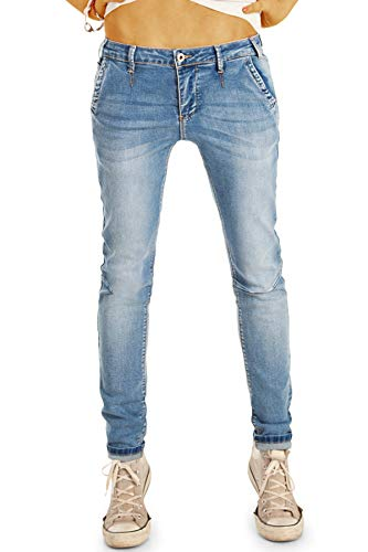 be Styled Damenjeans Hüfthose im Chino Hosen Look - Stretchiger röhriger Skinny Schnitt j1p M Denim