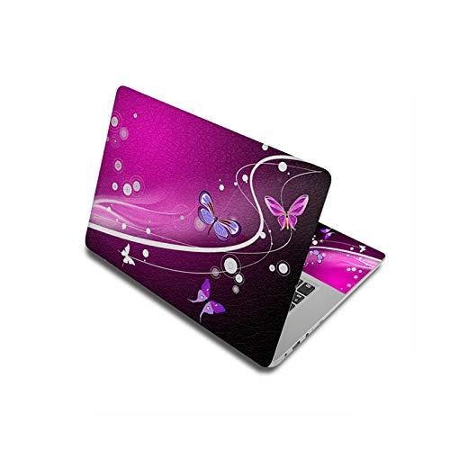 Peach-girl - Carcasa para Lenovo / HP / Macbook / Dell,adhesivo para ordenador portátil, diseño de mariposas de 11,6', 12', 13,3', 14' y 15,6' 17'