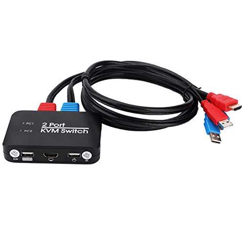 Leftwei Conmutador teledirigido Interruptor 1080P de KVM para la Oficina en casa
