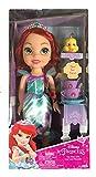 Jakks Pacific Disney Princesa Ariel 35 cm y Flounder con Set de Té para Dos Tea Time...