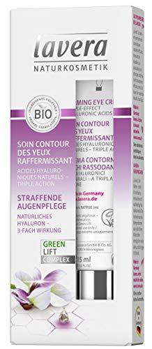 lavera Soin Contour des Yeux Raffermissant Karanja ✔ anti-âge ✔ l'acide hyaluronique ✔ Vegan ✔ Cosmétiques naturels ✔ Ingrédients végétaux bio ✔ 100% naturel (2 x 15 ml)