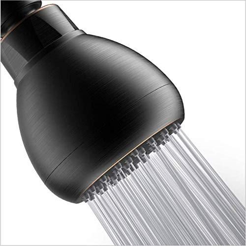 Yuema Hochdruck-Duschkopf, anti-Verstopfen, feste Chrom-Duschkopf, Wandmontage, verstellbares Metall-Drehgelenk mit Filter und niedrigem Durchfluss für Duschen