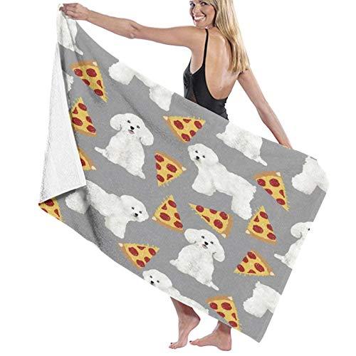Toallas de baño,Pizza de Bichon Frise,Manta Suave de Las Toallas de Playa...