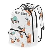 FANTAZIO - Mochilas y Bolsa Cruzada Oh My Sloth School Bag Set