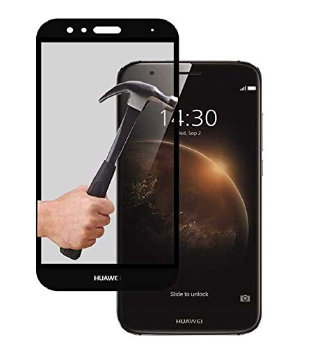 Protector de Cristal Tempado Compatible con Huawei GX8 Negro 3D Completo Cubre...