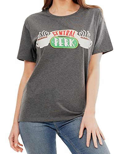 Friends - T-Shirt - Central Perk - Femme - Gris - Small