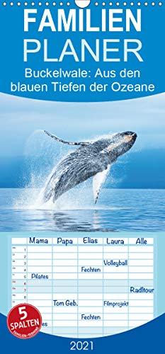 Buckelwale: Aus den blauen Tiefen der Ozeane - Familienplaner hoch (Wandkalender 2021, 21 cm x 45 cm, hoch)