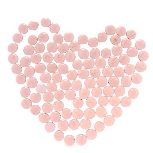 non-brand Homyl 100 Stück Mischfarbe Glasnuggets Muggelsteine Muggel Steine zum Basteln, Auswahl - Transparent Rosa