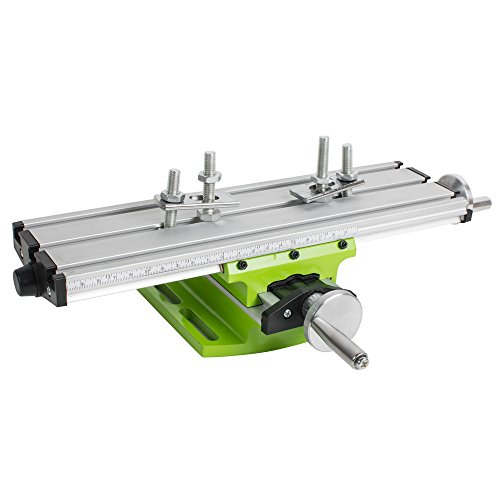 Mini Milling Machine Work Table Vise Multifunction Worktable X-Y Axis Cross Slide Table Compound Drilling Slide Table for Lathe Bench Drill Press
