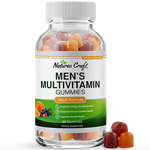 Adult Chewable Multivitamin for Men Gummies - Mens Multivitamin Gummies for Adults and Natural Multivitamin Immune Support Gummies - Adult Multivitamin Gummy for Men with Energy Vitamins for Men