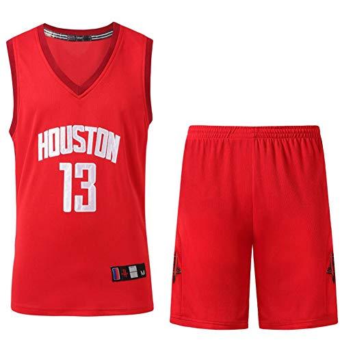 SSRSHDZW NBA Rockets N 13 Harden New Temporada bordada Jersey - Disfraz retro de baloncesto para hombre Paul N 3 Jersey, rojo, XL