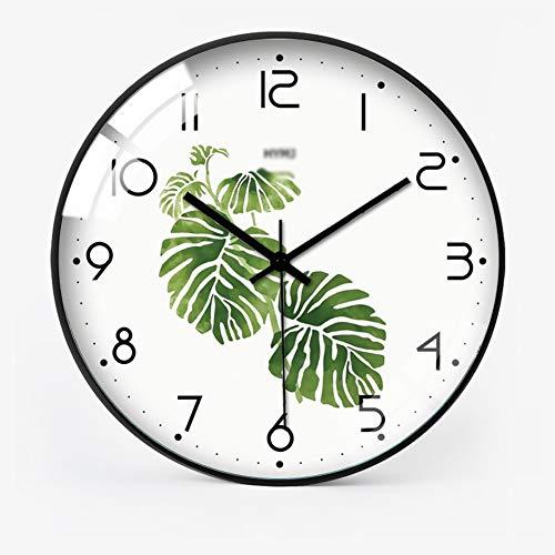 Reloj de Pared Retro de la Vendimia, con Hierro Manos 3D del Color Oro Reloj Pared Grande, Grande Metal de la Vendimia número Romano Antiguo Esqueleto de la Pared de Colgante del Reloj,D,16 Inches