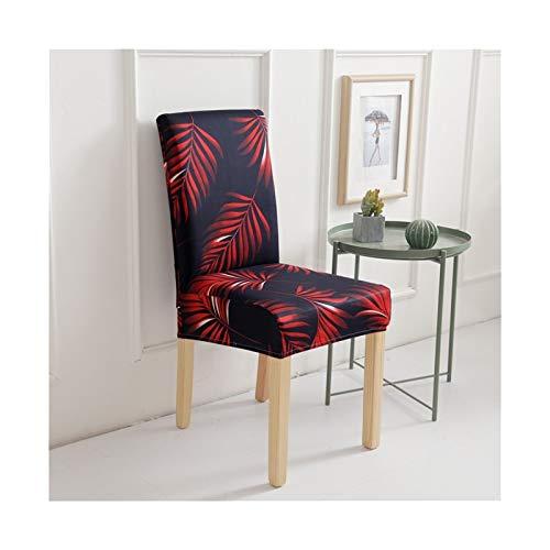 Cubierta de silla impresa Cubierta del estiramiento de la silla suave Cubierta de silla de comedor extraíble para comedor Muebles de cocina Boda Banquete Hotel ( Color : 8 , Talla : Universal size )