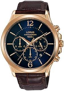 ساعة اوربان كرونوغراف بسوار جلدي للرجال، موديل RT320HX9 من لوراس