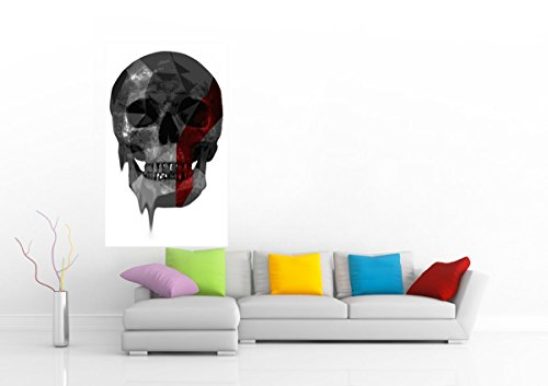 """Younique Skull Poly 36"""" Wide Poster"""