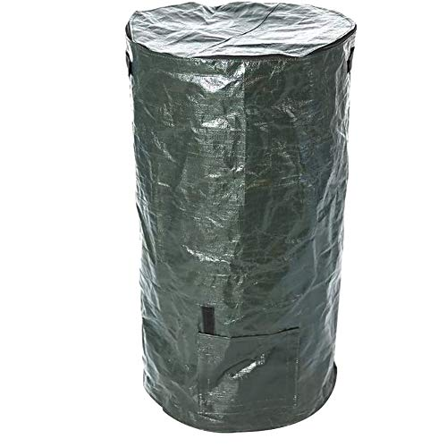 Apofly El Compost Cubierta Papeleras Eliminación De Compost para El Jardín Bolsa Compostador Bin PE Ambiental Orgánicos Caseros Fermento De Residuos para El Patio