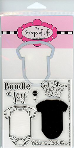 Baby Onesie Stamp and Die Combo Pack for Card-Making and Scrapbooking Supplies by The Stamps of Life - MiniOnesie2Cute