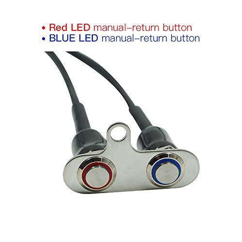 BGTR Moto Accessori Moto 12V LED Interruttore manubrio regolabile Montare i sensori impermeabili ON-OFF Pulsante faro (rosso e blu) (Colore : Blue and Red)