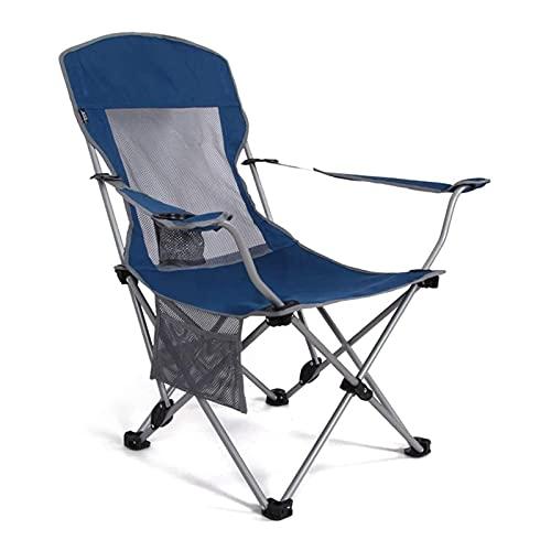HDZW Silla para Acampar Silla de Playa Plegable portátil para Exteriores con portavasos Simple para Acampar y Pescar
