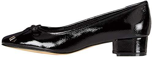 find. Mini Heel Leather Ballet Pumps, Schwarz Black Patent), 39 EU