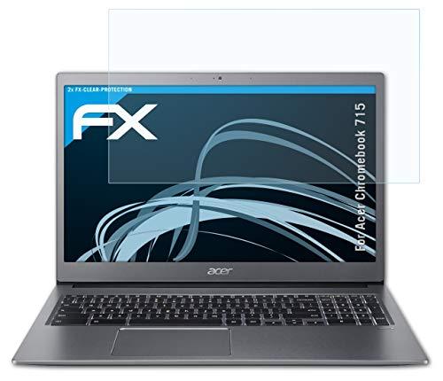 atFolix Schutzfolie kompatibel mit Acer Chromebook 715 Folie, ultraklare FX Bildschirmschutzfolie (2X)