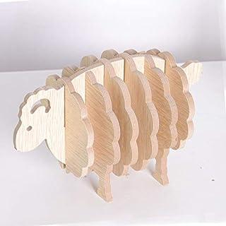 QCMRD 羊の形MDFコースターコーヒーカップマットテーブルマットカップDIY手作りクリエイティブ・プレイスマットアニマルオーナメントギフトオフィス用品 (Color : 6pcs)