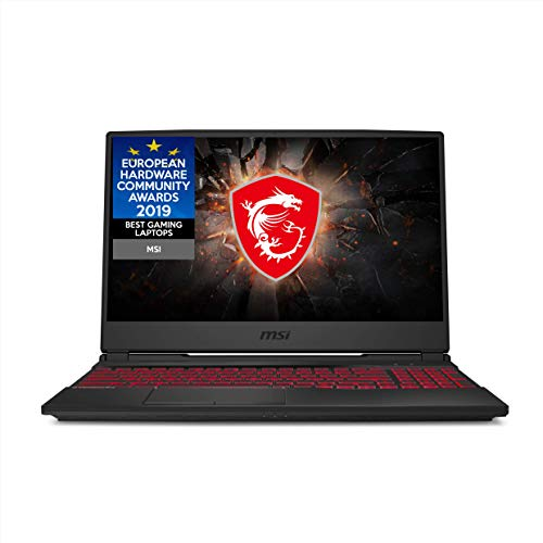 MSI GL65 9SD-246UK 15.6 Inch 120 Hz Thin Bezel slim and light gaming laptop i7-9750 GTX 1660 Ti 16 GB RAM (8 GB x 2) 256 GB SSD + 1 TB HDD