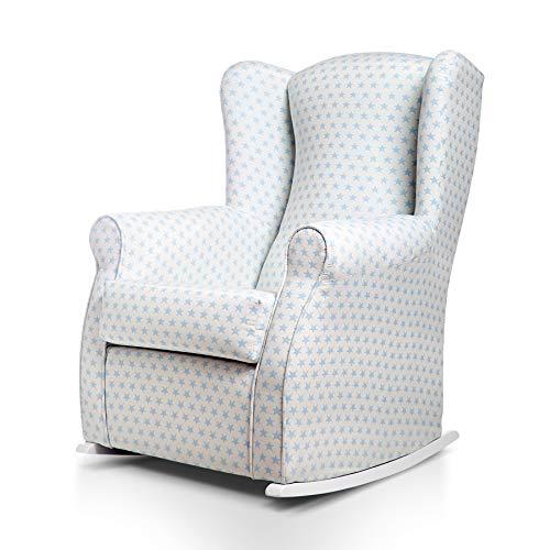 SUENOSZZZ-ESPECIALISTAS DEL DESCANSO Balancín Mecedora Olivia sillón para Lactancia tapizado en...