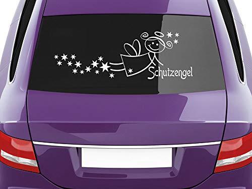 GrazDesign Sticker Achterruit Beschermengel, Auto plakfolie ster 930 goud.