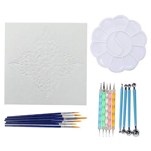 Coltiva il senso artistico, kit di pittura mandala da 20 pezzi, accessorio fai da te con tavolozza,