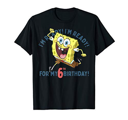 Nickelodeon SpongeBob SquarePants Ready For My 6th Birthday T-Shirt