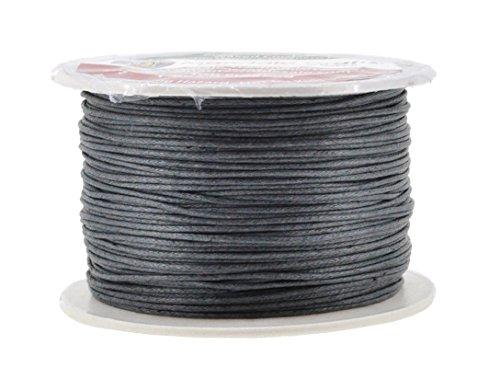 Mandala Crafts 1mm 109 Yards Jewelry Making Beading Crafting Macramé Waxed Cotton Cord Thread (Dim Gray)
