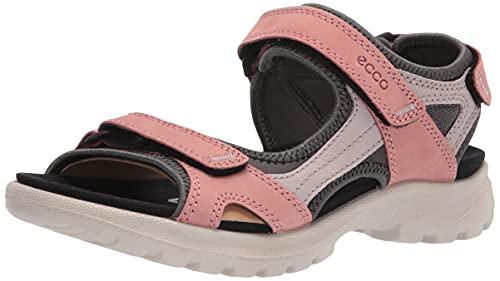 ECCO Women's Onroads 3-Strap Sport Sandal, Grey Rose, 10-10.5