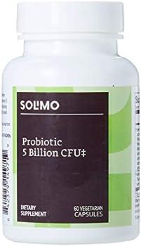 Amazon Brand Solimo Probiotic 5 Billion CFU 60 Vegetarian Capsules