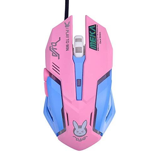 Mouse OW Mouse Respirador LED retroiluminado para jogos D.VA Genji Reaper USB mouse para PC e Mac E-sports Gamers