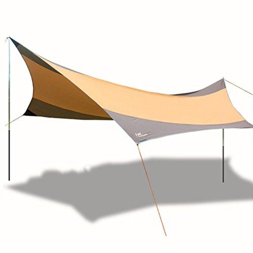 Bâches de protection Auvent auvent Tente Plage Camping Protection Solaire auvent Pluie Plage Tente auvent crème Solaire UPF50 + UV (Color : Orange, Size : 560 * 550CM)