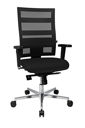 Topstar Sitness X-Pander Plus, ergonomischer Bürostuhl, Schreibtischstuhl, inkl. Multifunktions-Armlehnen, Body-Balance Tec-Gelenk, Stoff, schwarz