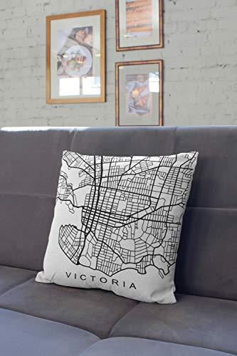 Lplpol Almohada Victoria City, fundas de almohada decorativas para sofá de casa, sofá, cama, 56 x 56 cm